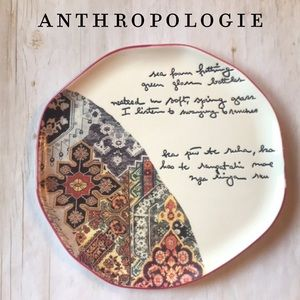 Anthropologie Love Given, Love Received Plate